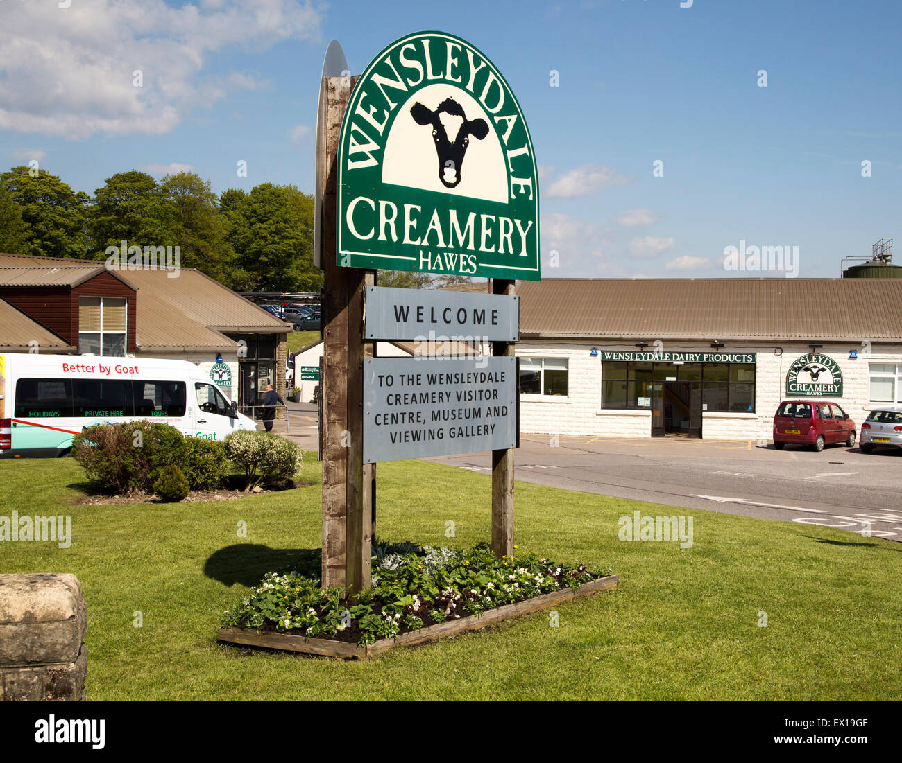 Wensleydale Creamery cheese factory visitor centre, Hawes, Yorkshire Dales national park, England, UK Stock Photo