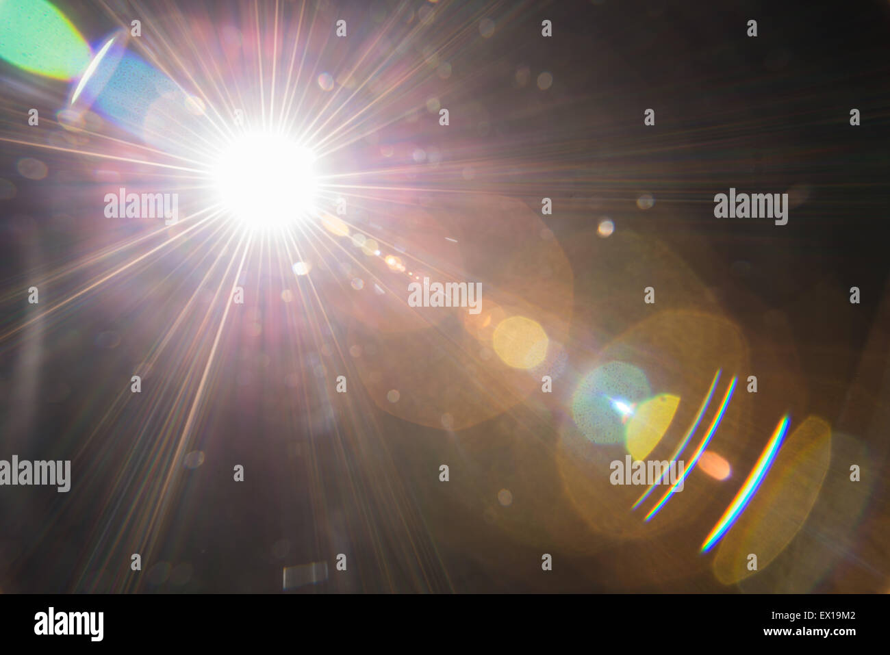 Natural lens flare. - Stock Image