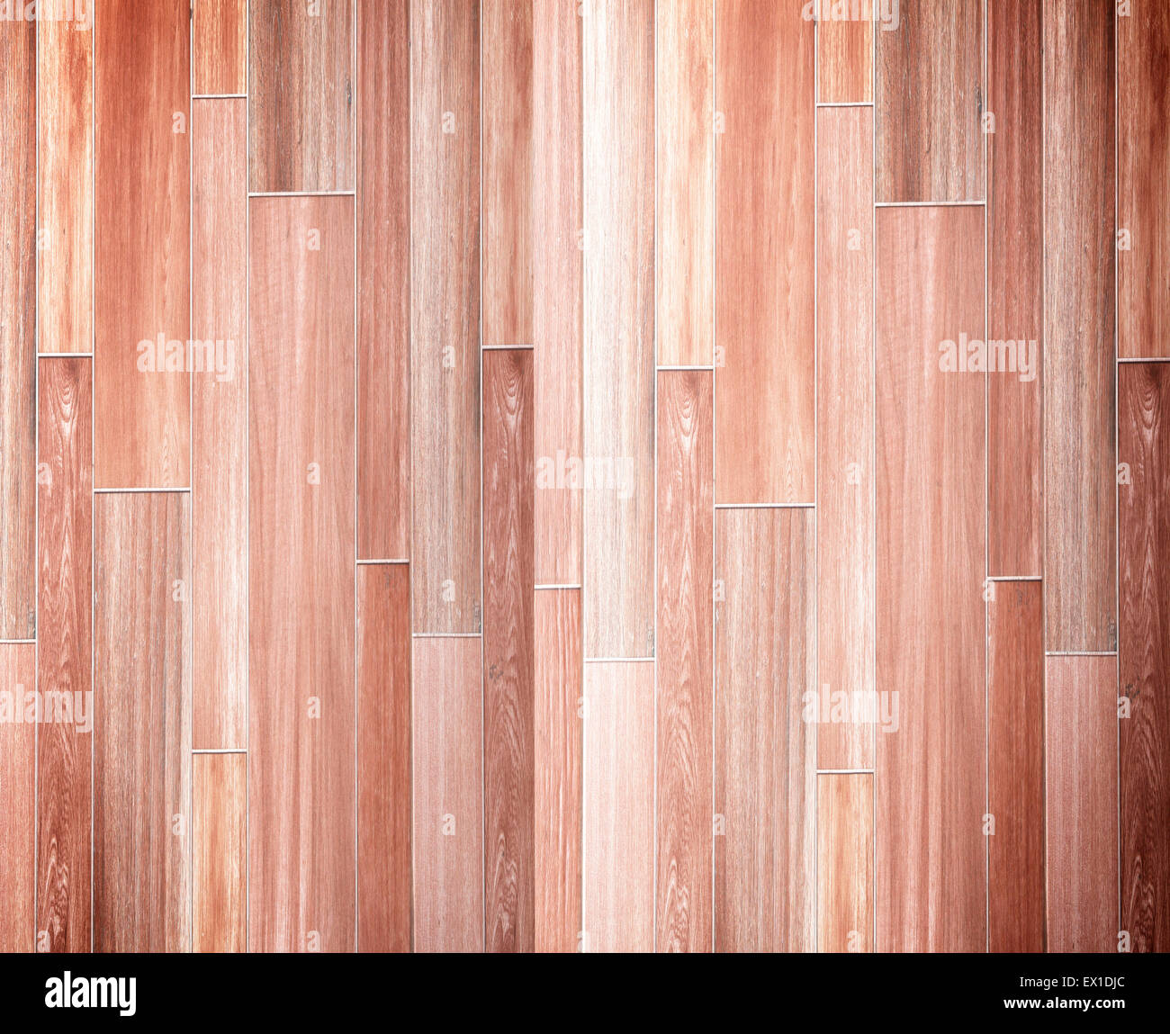 Laminated Wood plank brown pattern texture background. - Stock Image