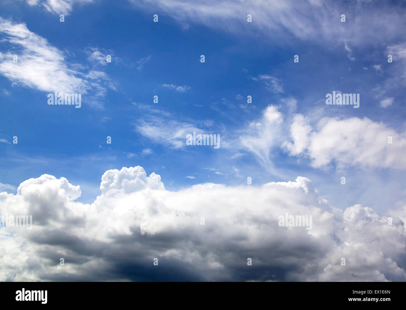 Blue sky fresh air nature abstract background ozone. - Stock Image