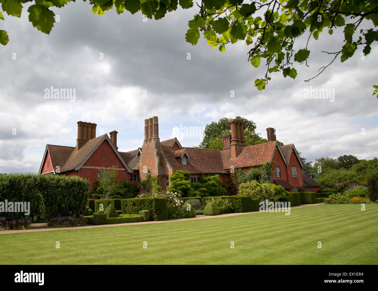 Wyken Hall house and gardens, Suffolk, England, UK - Stock Image