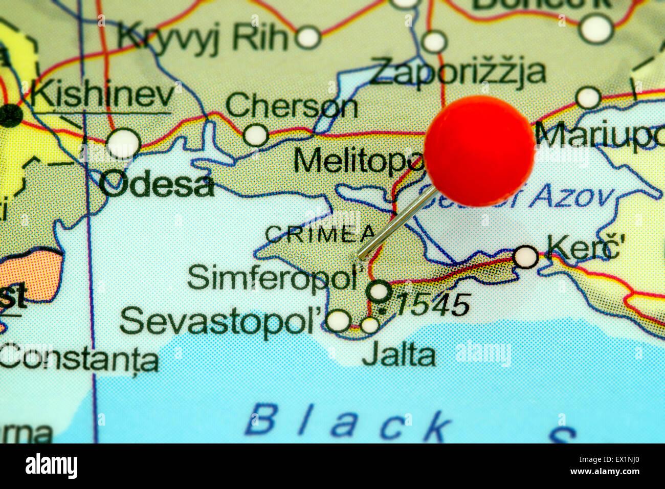 Map Of Crimea Stock Photos & Map Of Crimea Stock Images - Alamy