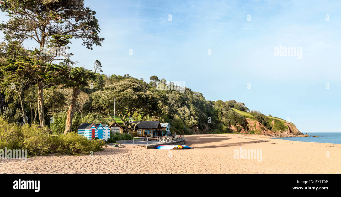 View over the Blackpool Sands Beach near Dartmouth, Devon, England - Stock Image
