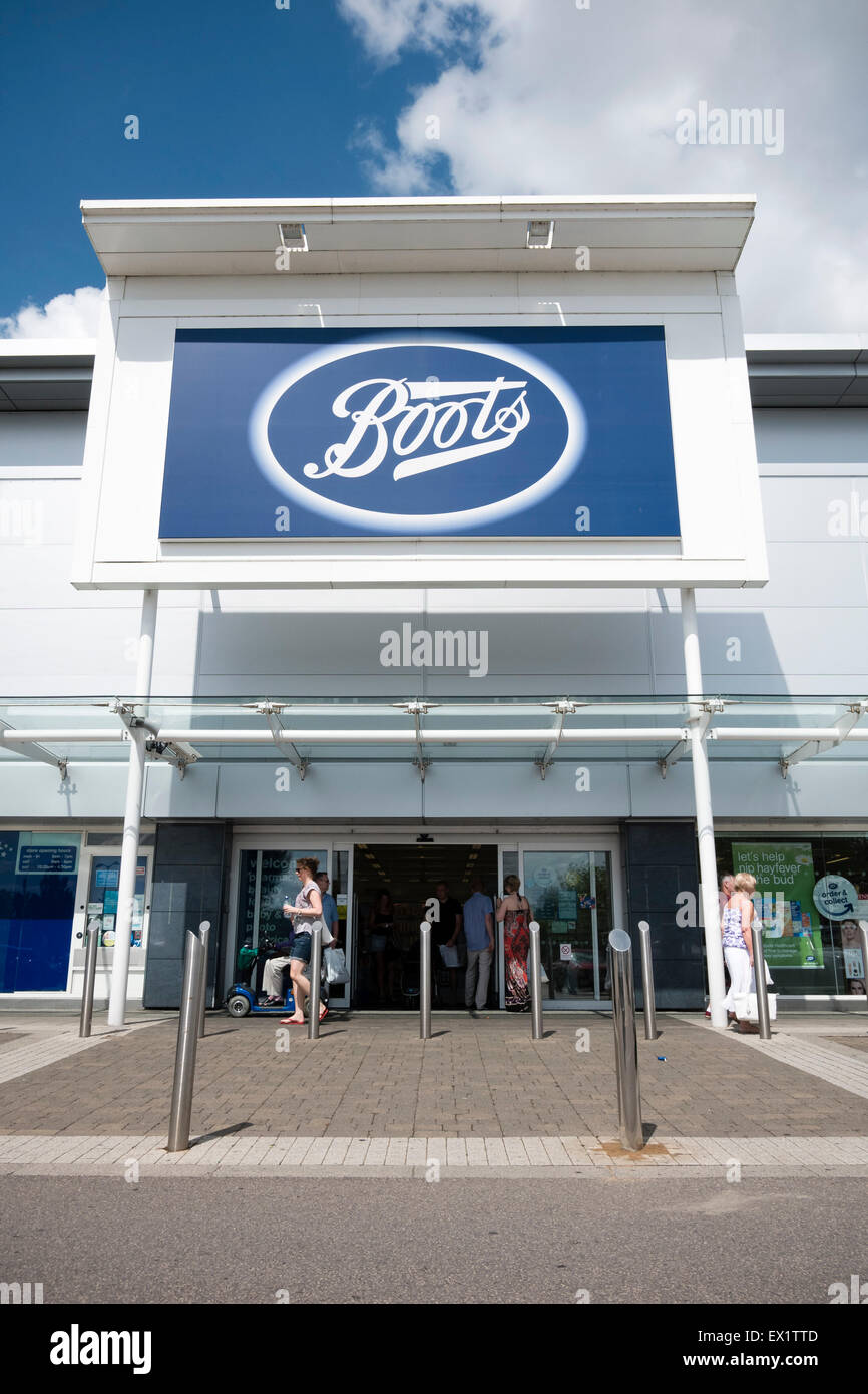 Boots chemist store, UK - Stock Image