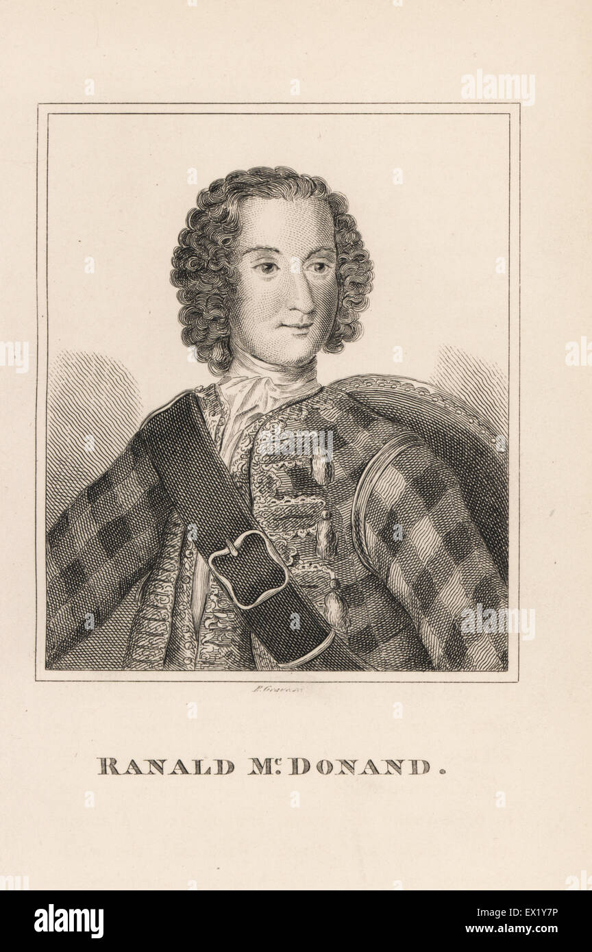 Ranald MacDonald, Scottish supporter of the Pretender Bonnie Prince Charlie, executed on Kennington Common in 1746. - Stock Image