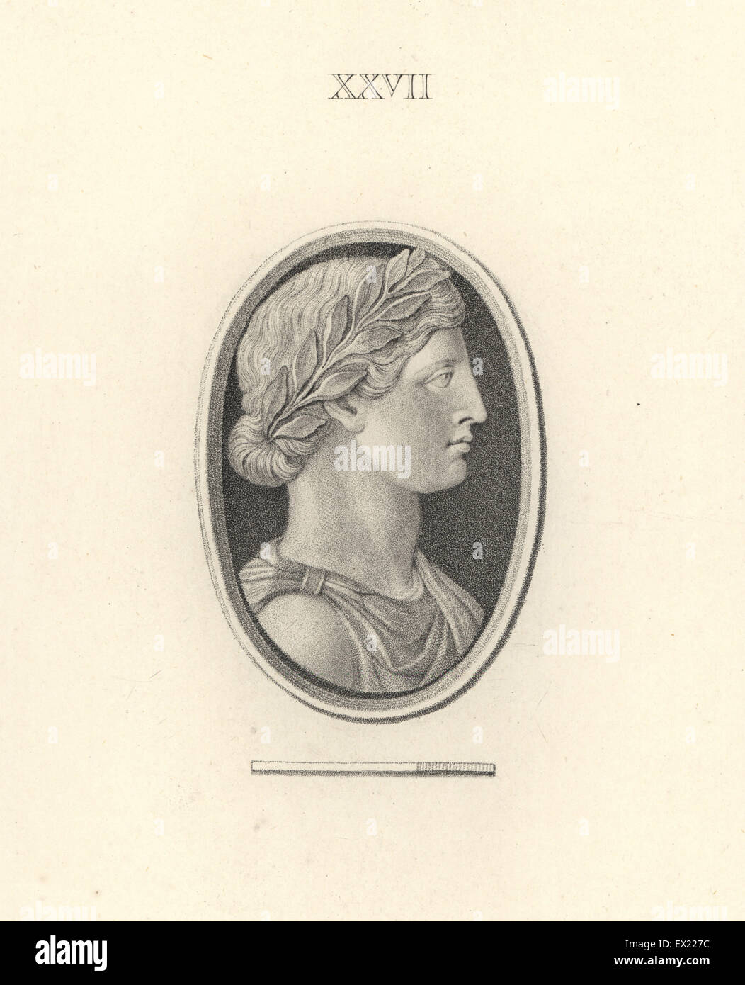 Antonia Minor or Agrippina Minor, Roman empress. Copperplate engraving by Francesco Bartolozzi from 108 Plates of - Stock Image