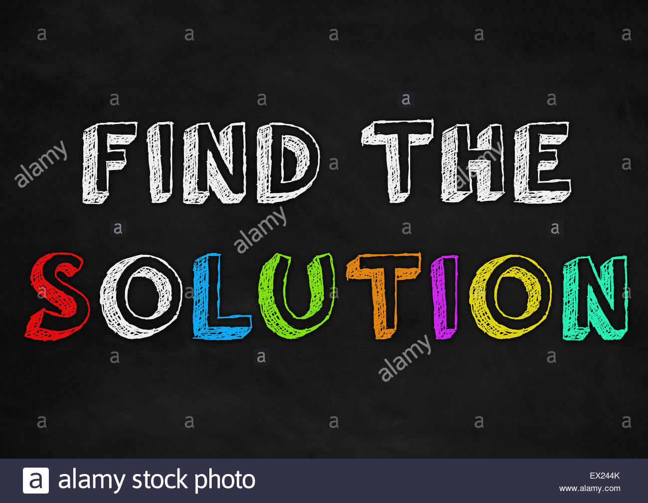 find the solution - Stock Image