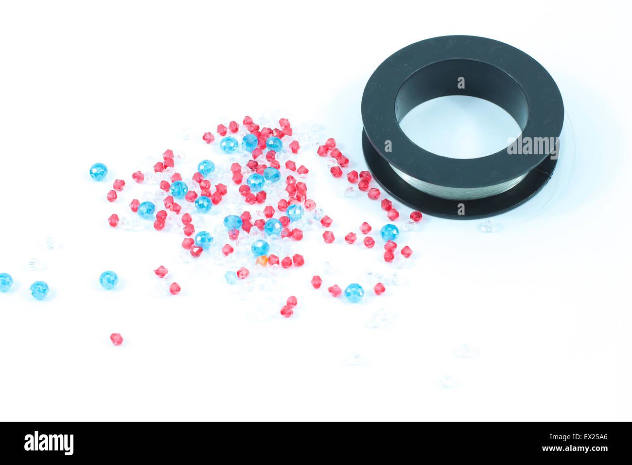 glass beads - Stock Image