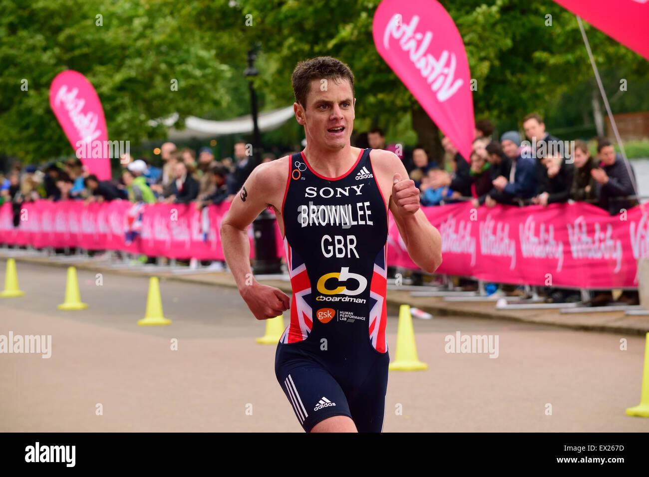 Jonathan Brownlee racing - Stock Image