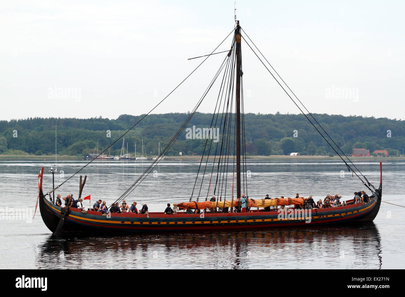 Frederikssund, Denmark, July 5, 2015. 'The Sea Stallion from Glendalough' - 'Havhingsten fra Glendalough', - Stock Image