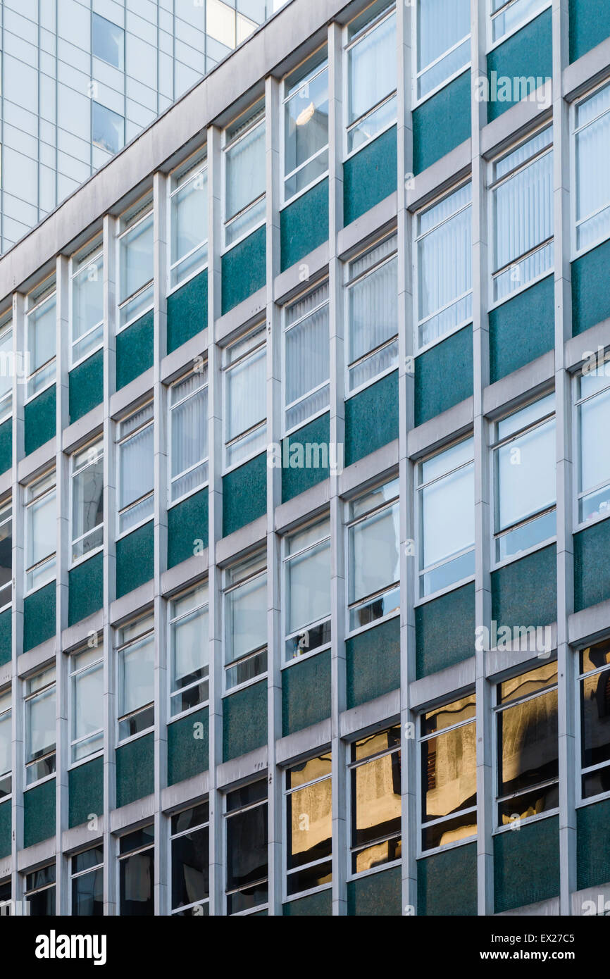 An anonymous 1960s modern office building in central Manchester, UK. - Stock Image