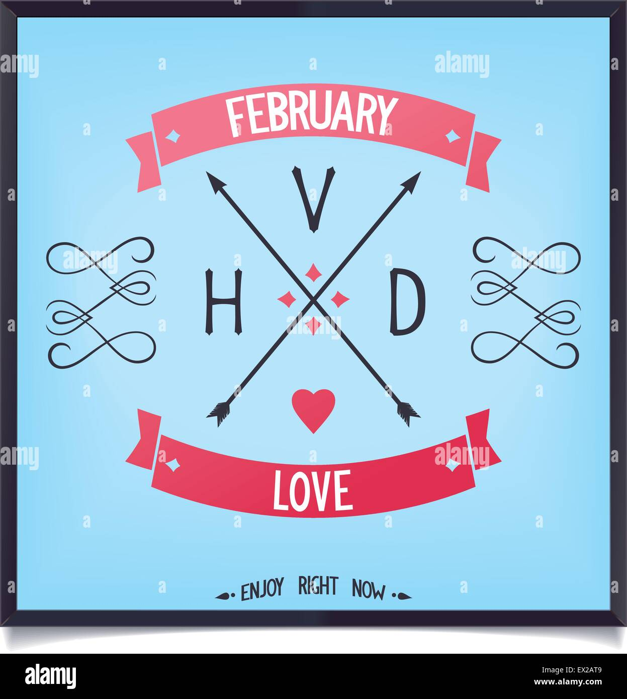 Sign of Valentine's Day, love in February. Vector eps8 - Stock Vector