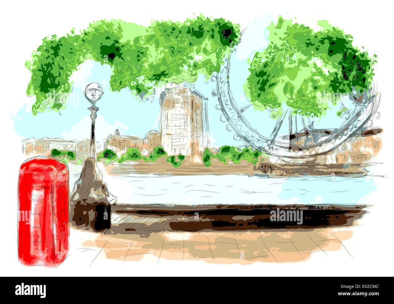 london river - Stock Image