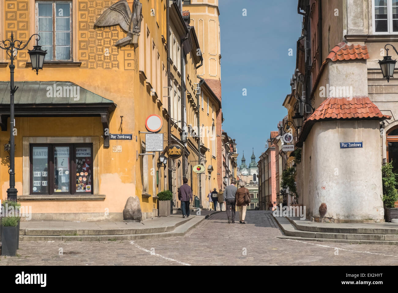 Example of architecture found in Old Town, Warsaw, a UNESCO World Heritage Site, Poland - Stock Image