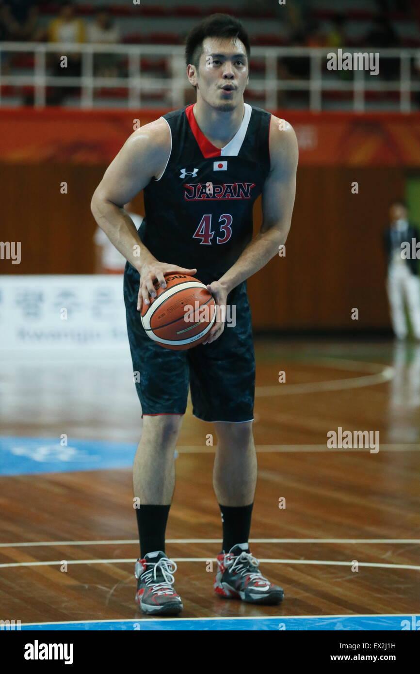 Gwangju, South Korea. 4th July, 2015. Yuya Nagayoshi (JPN) Basketball : The 28th Summer Universiade 2015 Gwangju Stock Photo