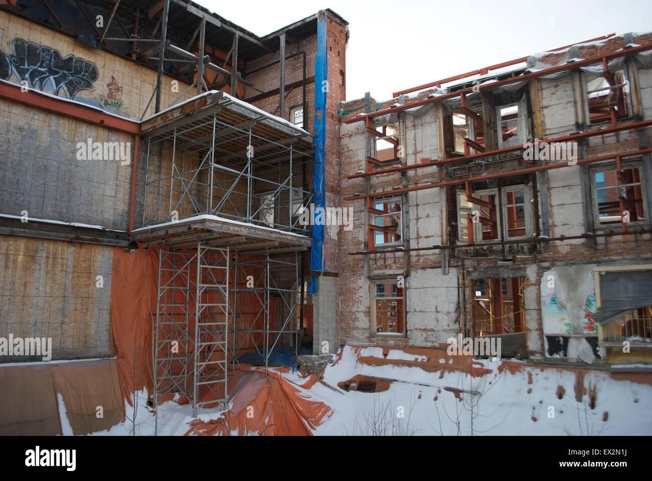 building in disrepair ottawa - Stock Image