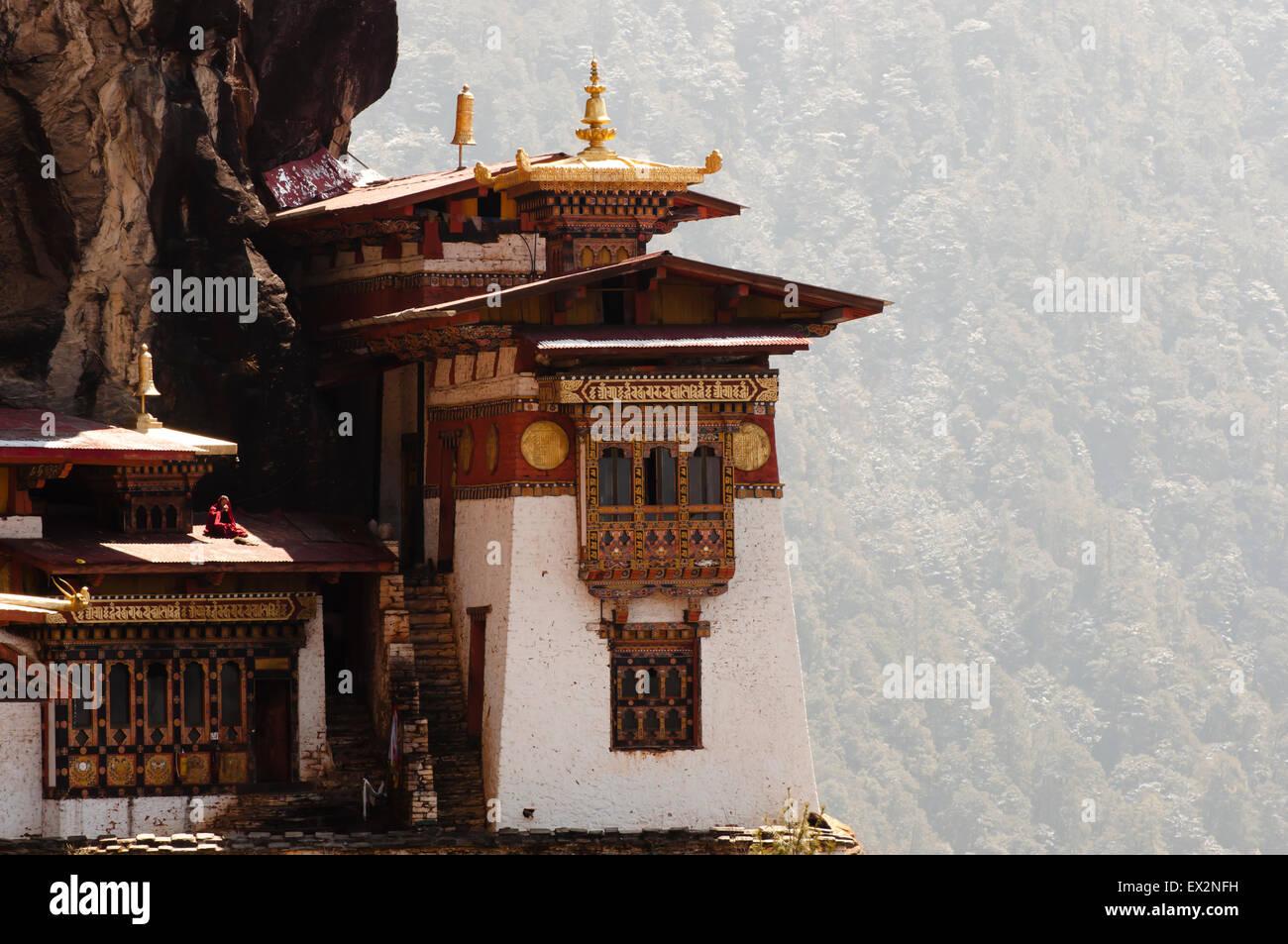 Taktsang Monastery (Tiger's Nest) - Bhutan - Stock Image