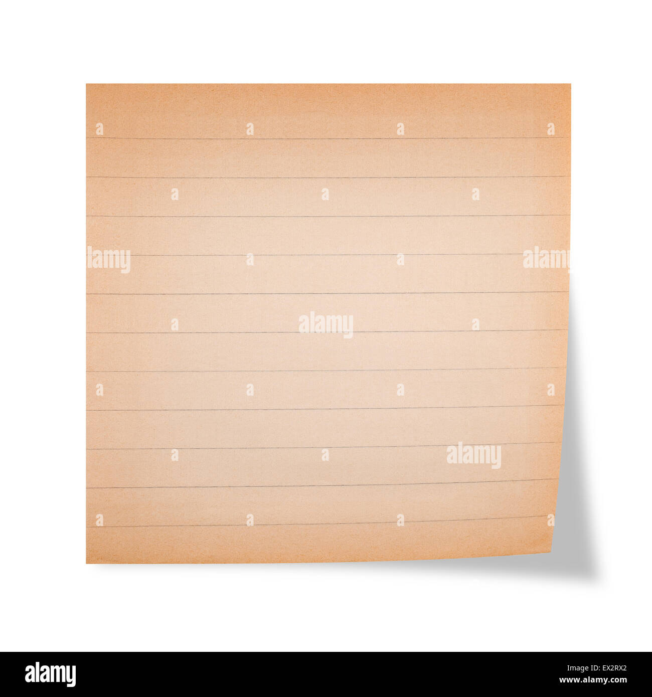 Old striped sheet on a white background - Stock Image