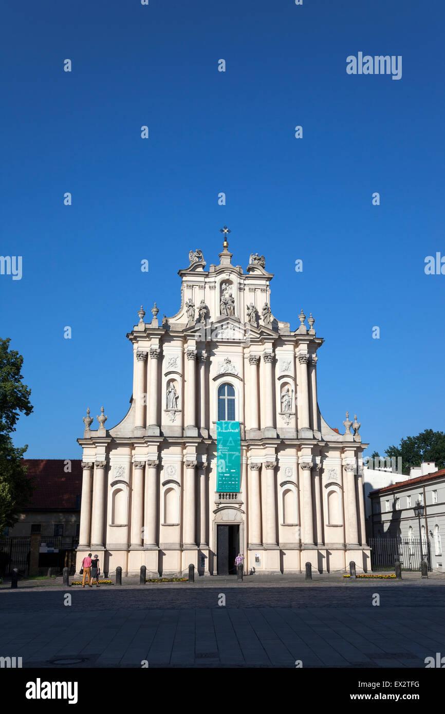 Church of St. Joseph of the Visitationists  (Kościół Opieki św. Józefa w Warszawie i Kościół Wizytek w Warszawie) Stock Photo