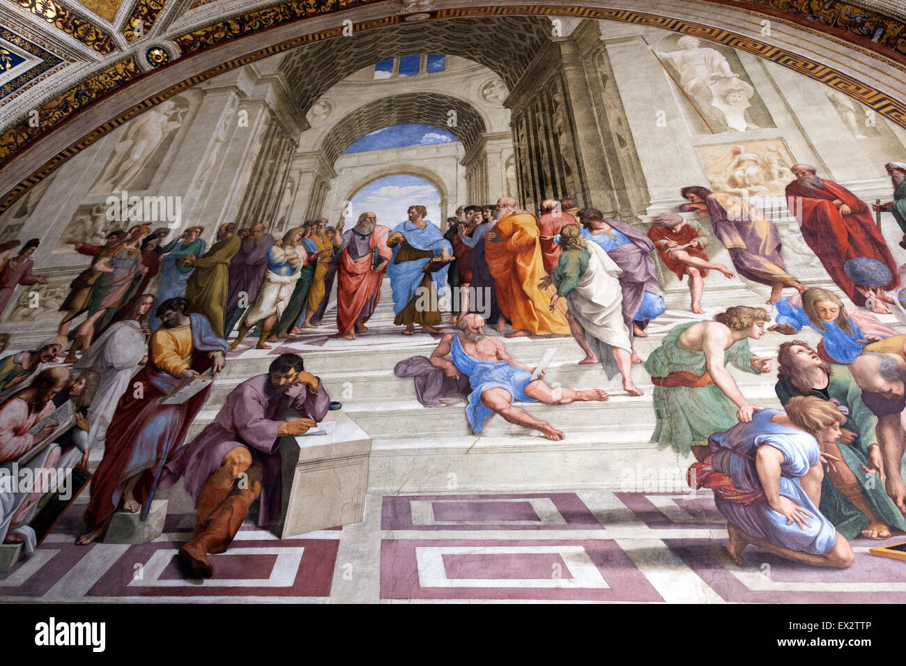School Of Athens Or Scuola Di Atene Is One The Most Famous Frescoes By Italian Renaissance Artist Raphael