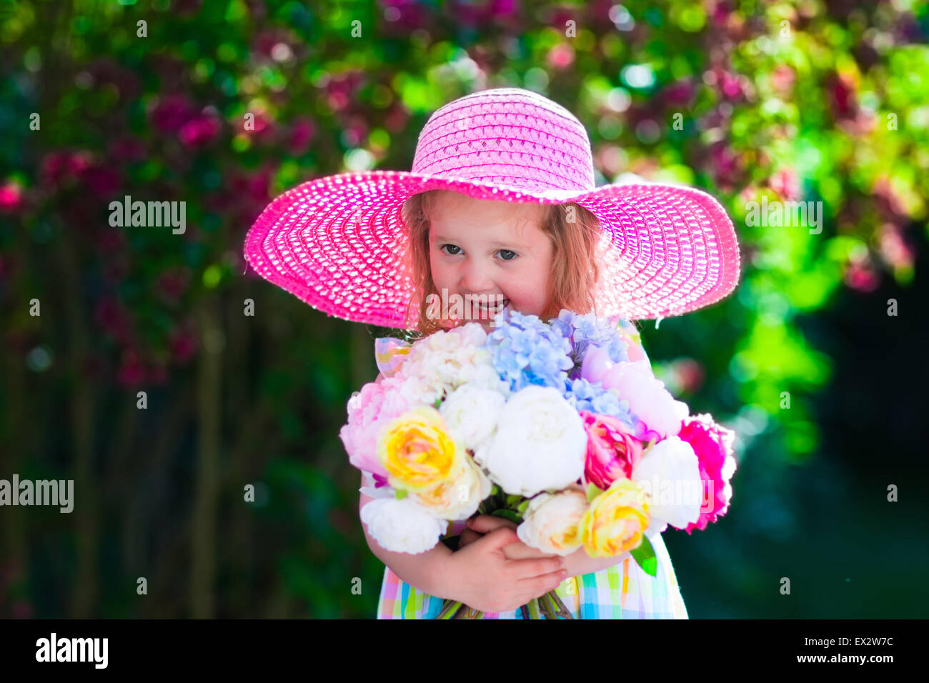 Kids Background With Flowers Stock Photos Kids Background With