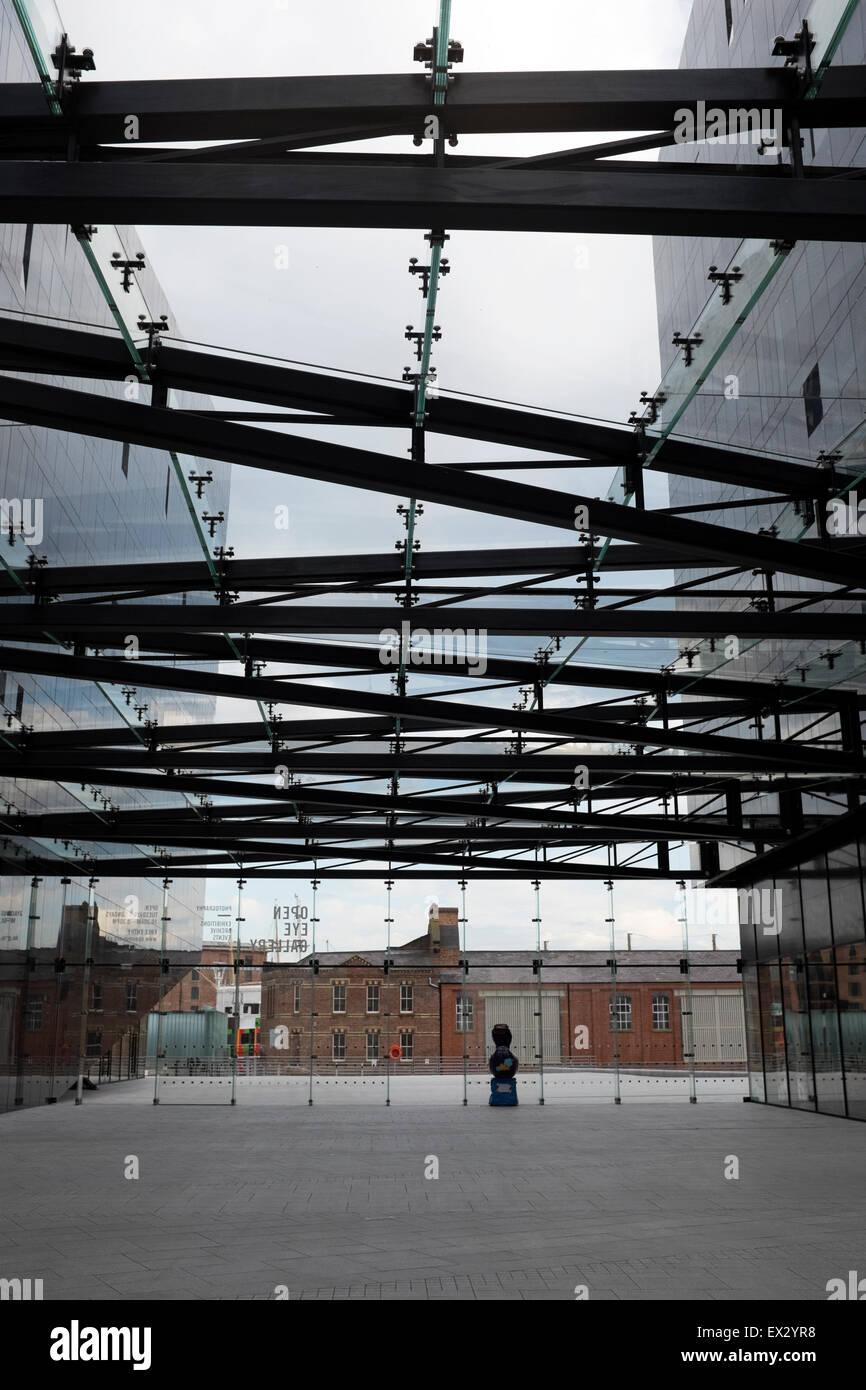 Modern Architecture Glass Flat Roof Atrium Building Stock Photo
