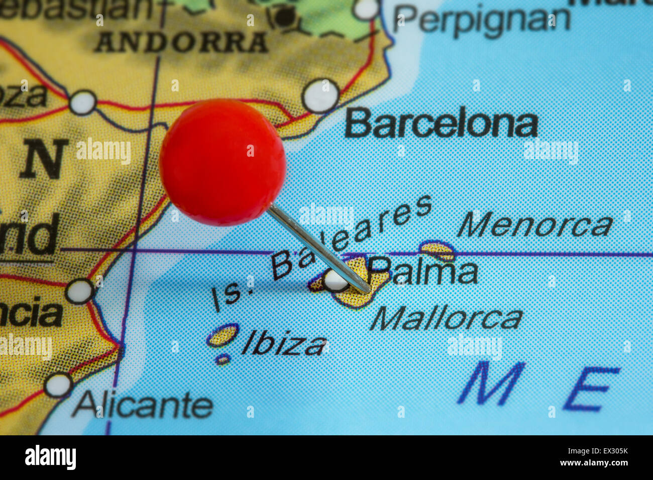 Map Of Mallorca Spain Stock Photos Map Of Mallorca Spain Stock