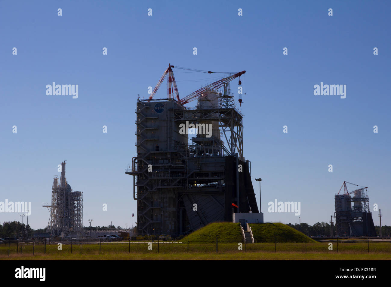 Admission to the Infinity Science Center includes a bus tour of neighboring Stennis Space Center, Bay St. Louis, - Stock Image