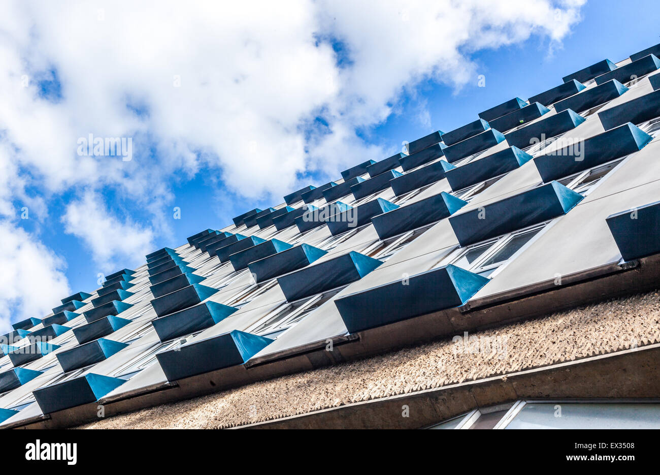 fenestration pattern on a building - Stock Image