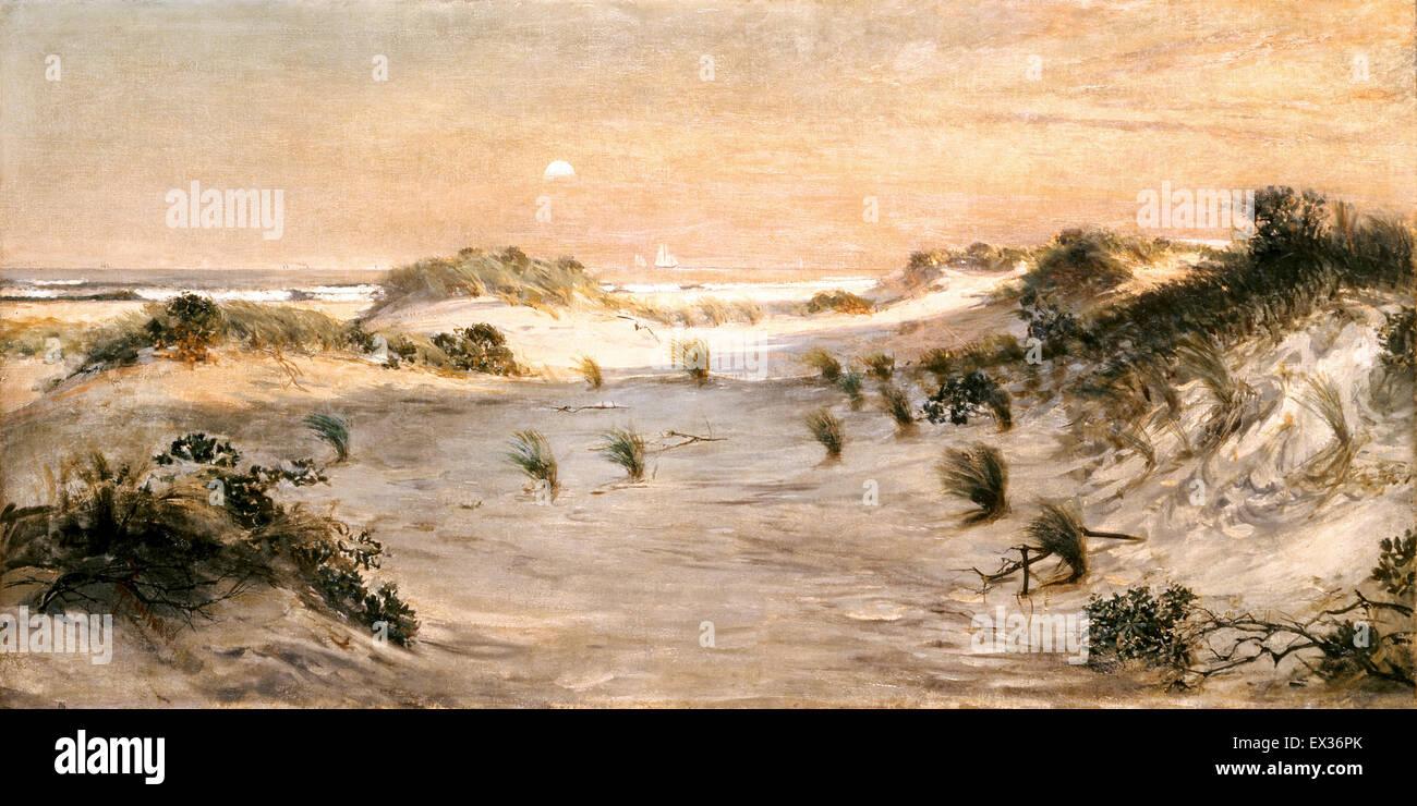 Henry Ossawa Tanner, Sand Dunes at Sunset, Atlantic City. Circa 1885. Oil on canvas. The White House, Washington, - Stock Image