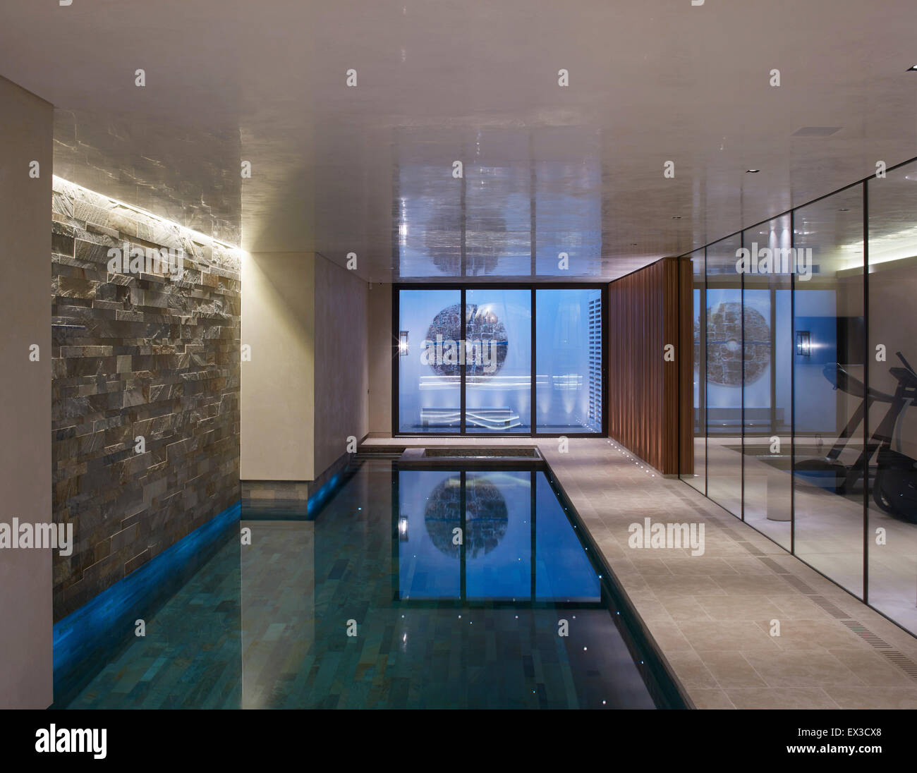 interior view in basement pool area private residence london stock photo 84898528 alamy. Black Bedroom Furniture Sets. Home Design Ideas