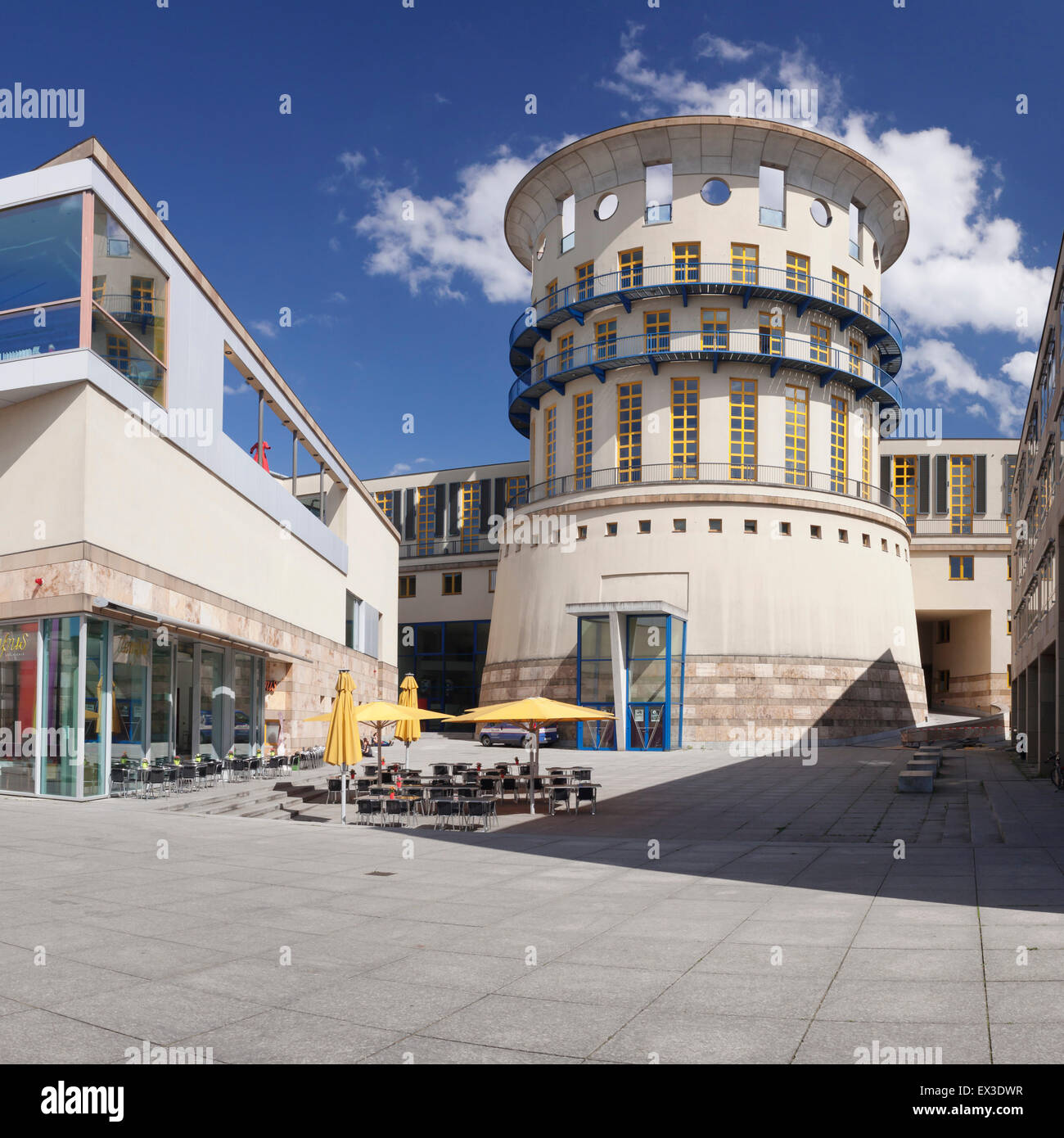 State University of Music and Performing Arts, Museum of Contemporary History, Stuttgart, Baden-Württemberg, - Stock Image