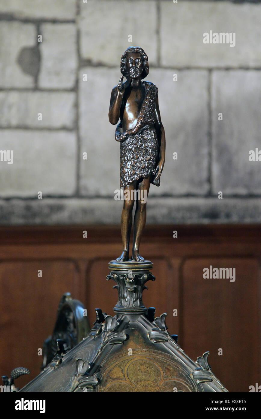 Statue in the Notre-Dame de Paris.Notre-Dame Cathedral.Notre-Dame.Paris France - Stock Image