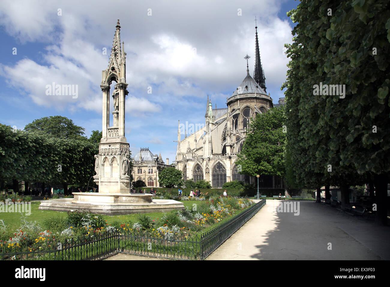 Notre-Dame de Paris.Notre-Dame Cathedral.Notre-Dame Paris France Stock Photo