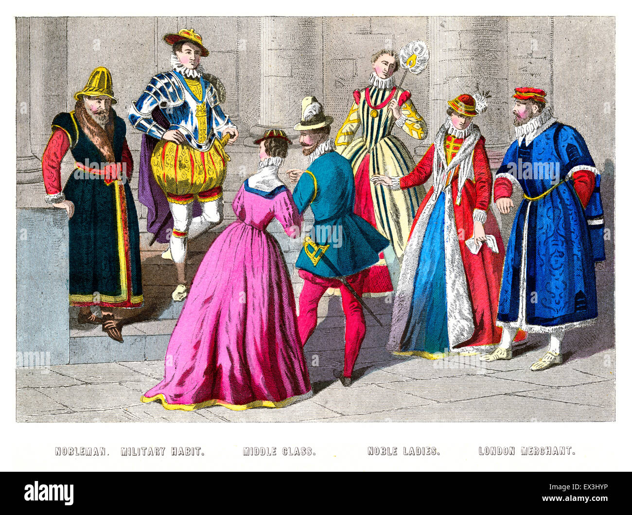 Costumes of the rich and noble in England, 1550 to 1580