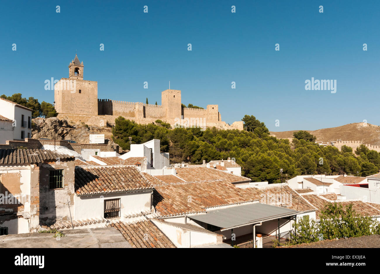 Alcazaba of Antequera, Andalusia, Spain - Stock Image
