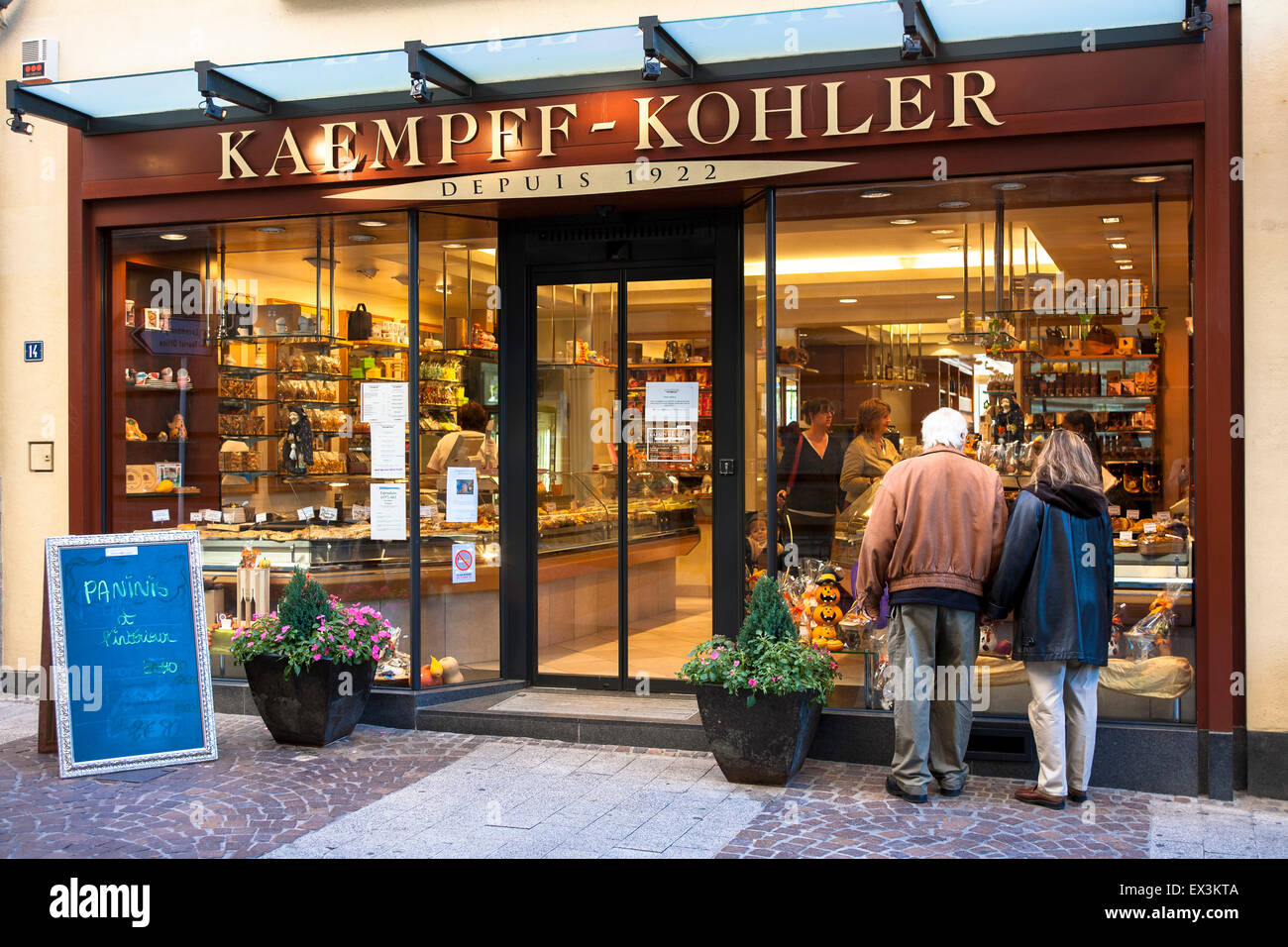 LUX, Luxembourg, city of Luxembourg, delicatessen store Stock Photo ...