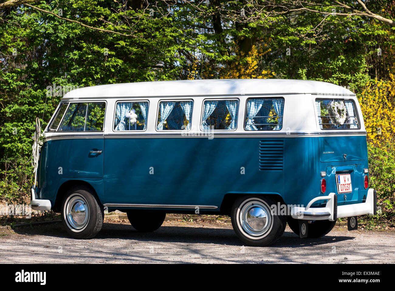 Europe, Germany, North Rhine-Westphalia, Muensterland, region, Volkswagen T1, VW van, called Bulli.  Euroa, Deutschland, - Stock Image