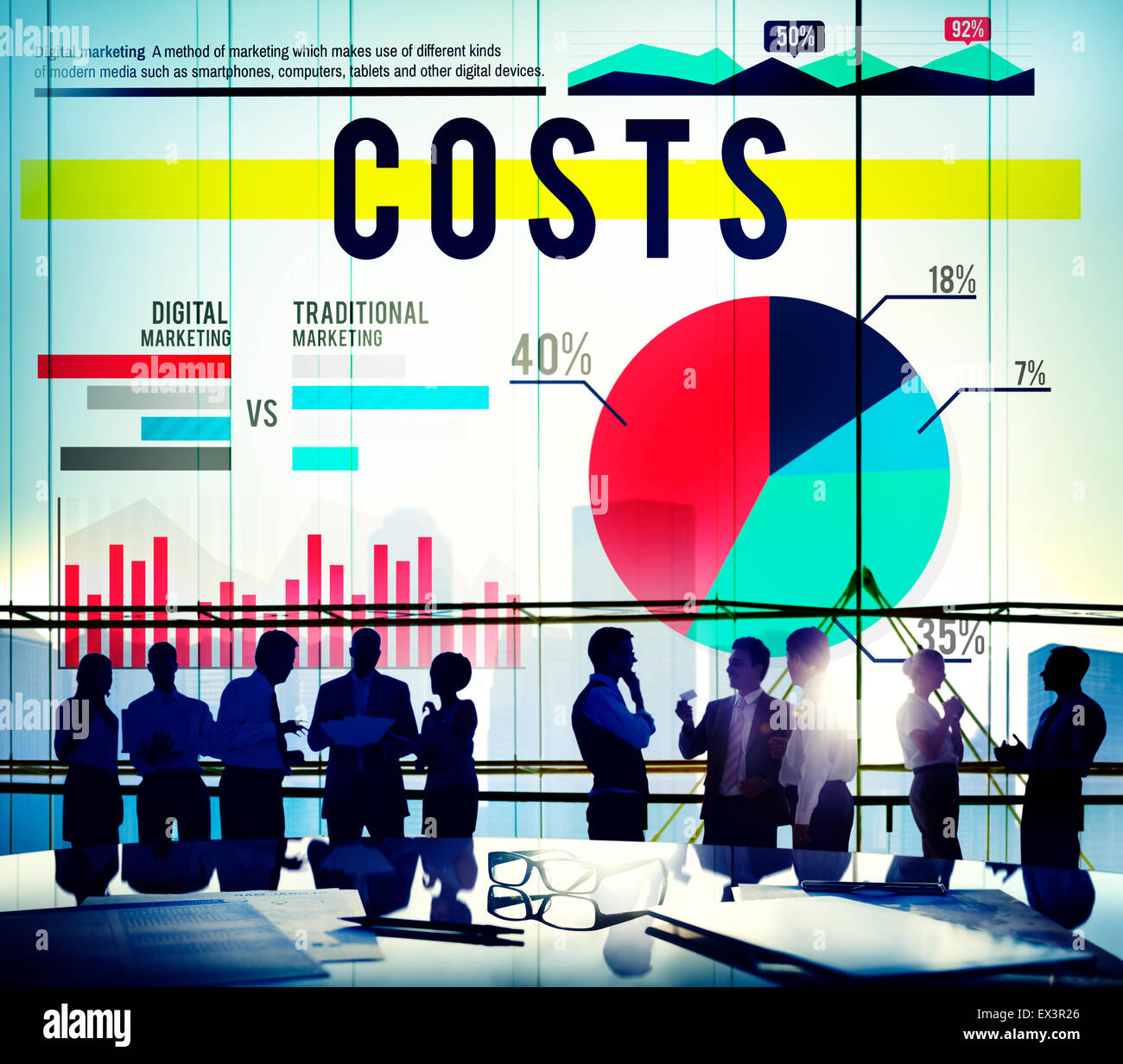 Costs Budget Finance Financial Issues Business Concept - Stock Image
