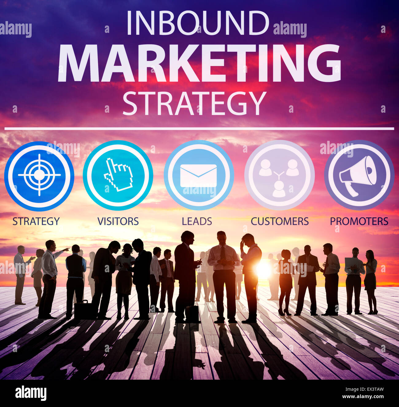 Inbound Marketing Strategy Commerce Solution Concept - Stock Image