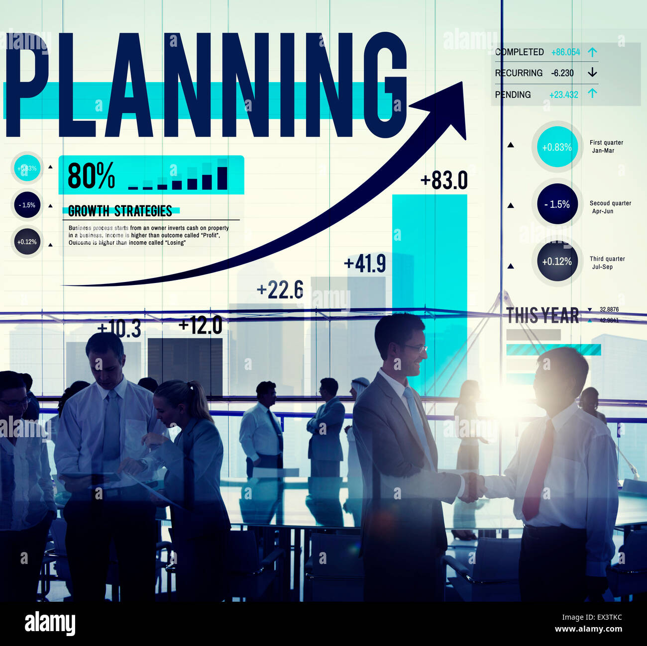 Planning Plan Strategy Thinking Goal Aim Success - Stock Image