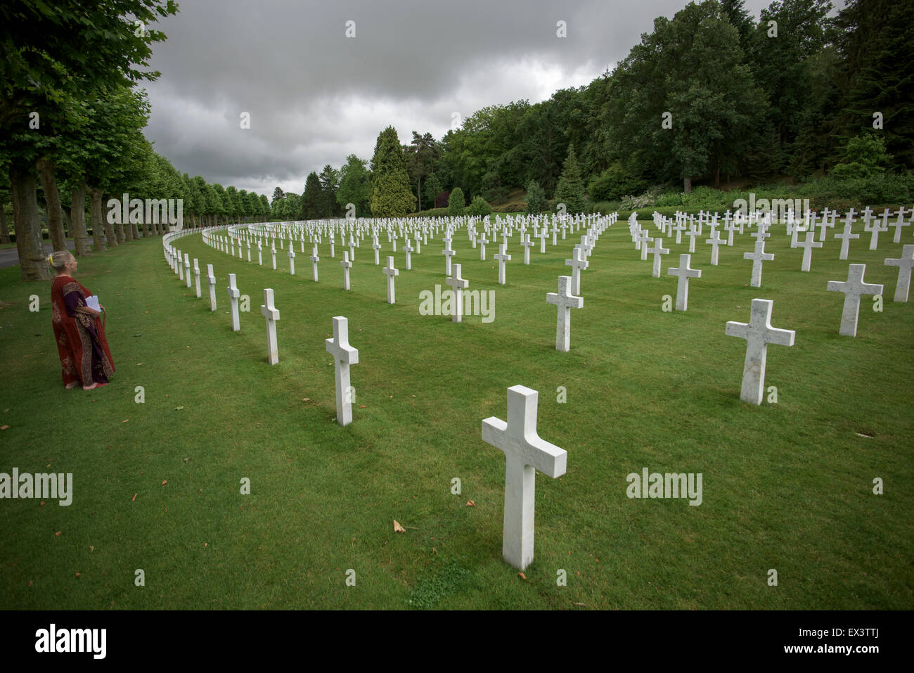 Aisne-Marne American Cemetery and Memorial, a WWI cemetery in Belleau, France. June 2015 - Stock Image