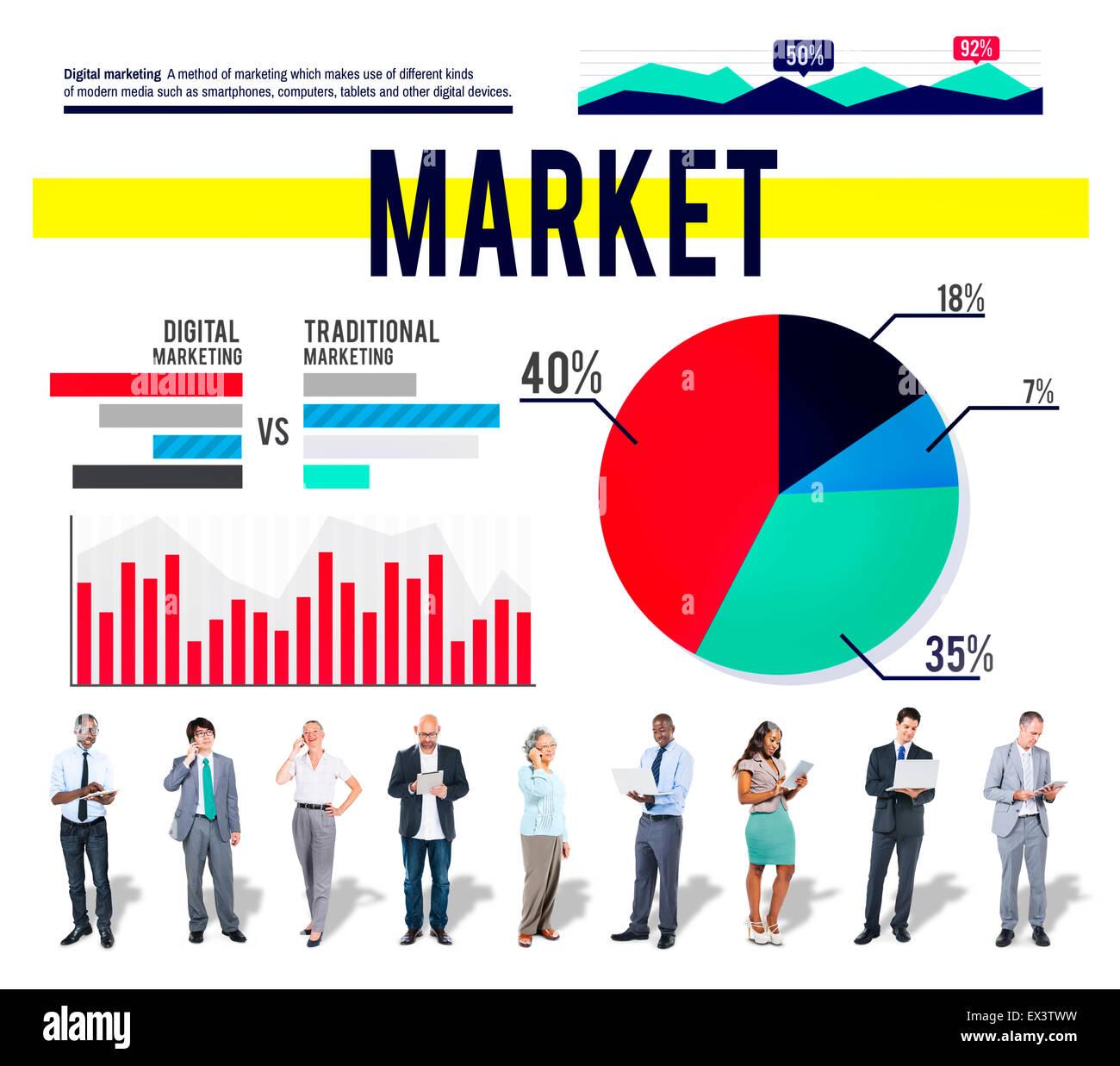 Marketing Market Business Strategy Consumerism Concept - Stock Image