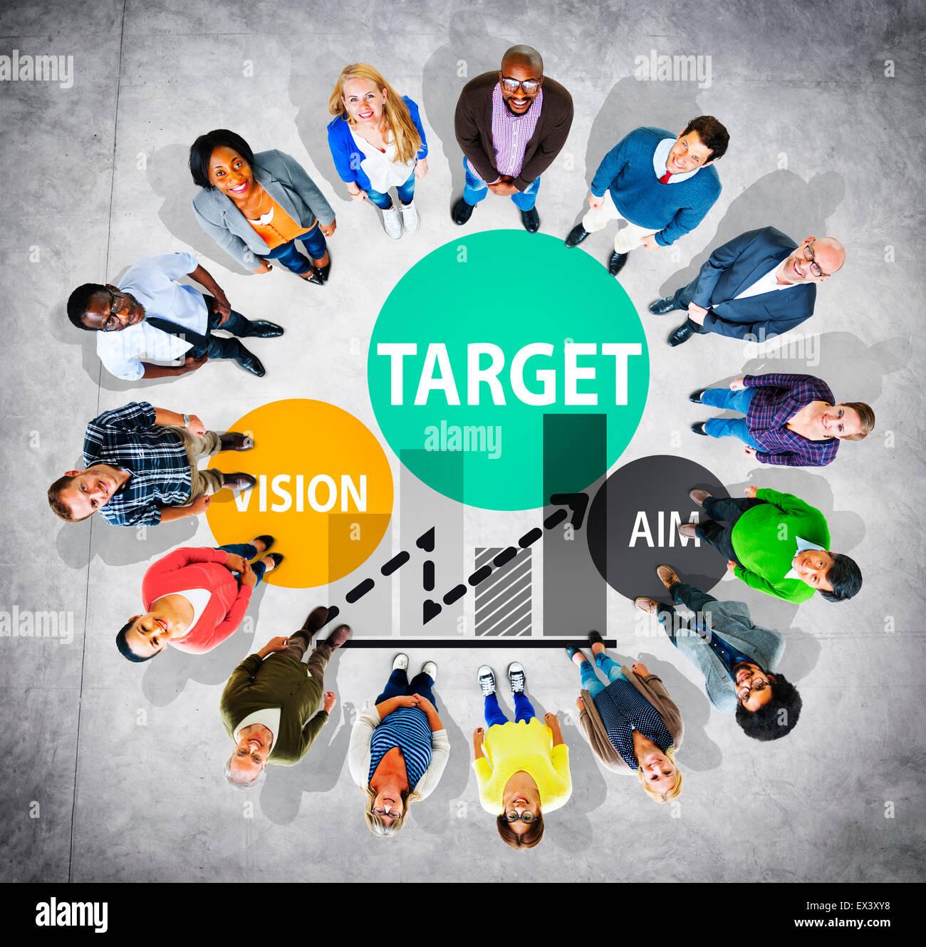 Target Goal Aspiration Aim Vision Vision Concept - Stock Image