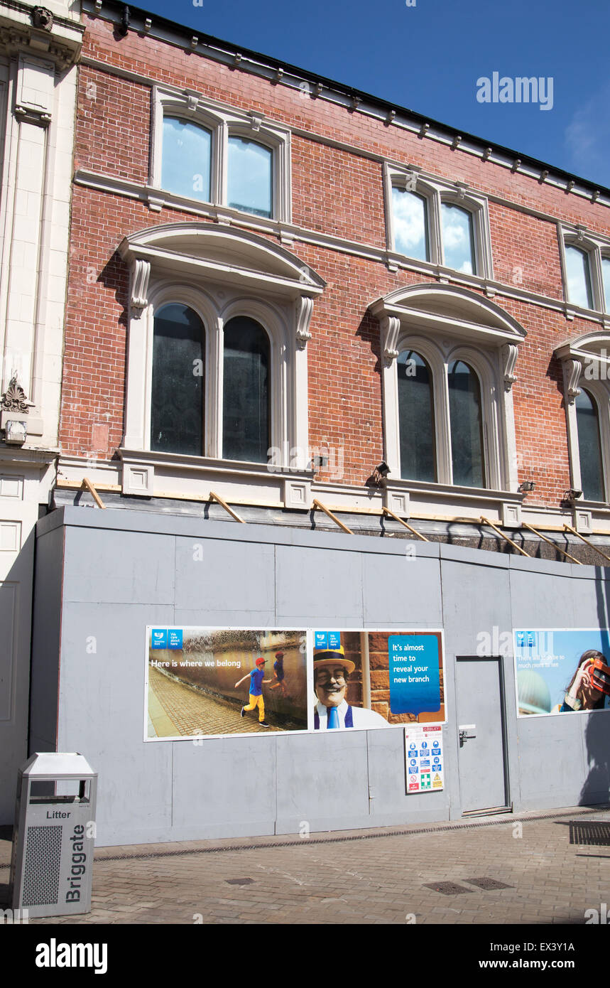 New Yorkshire Bank Branch under contruction in Briggate, Leeds - Stock Image