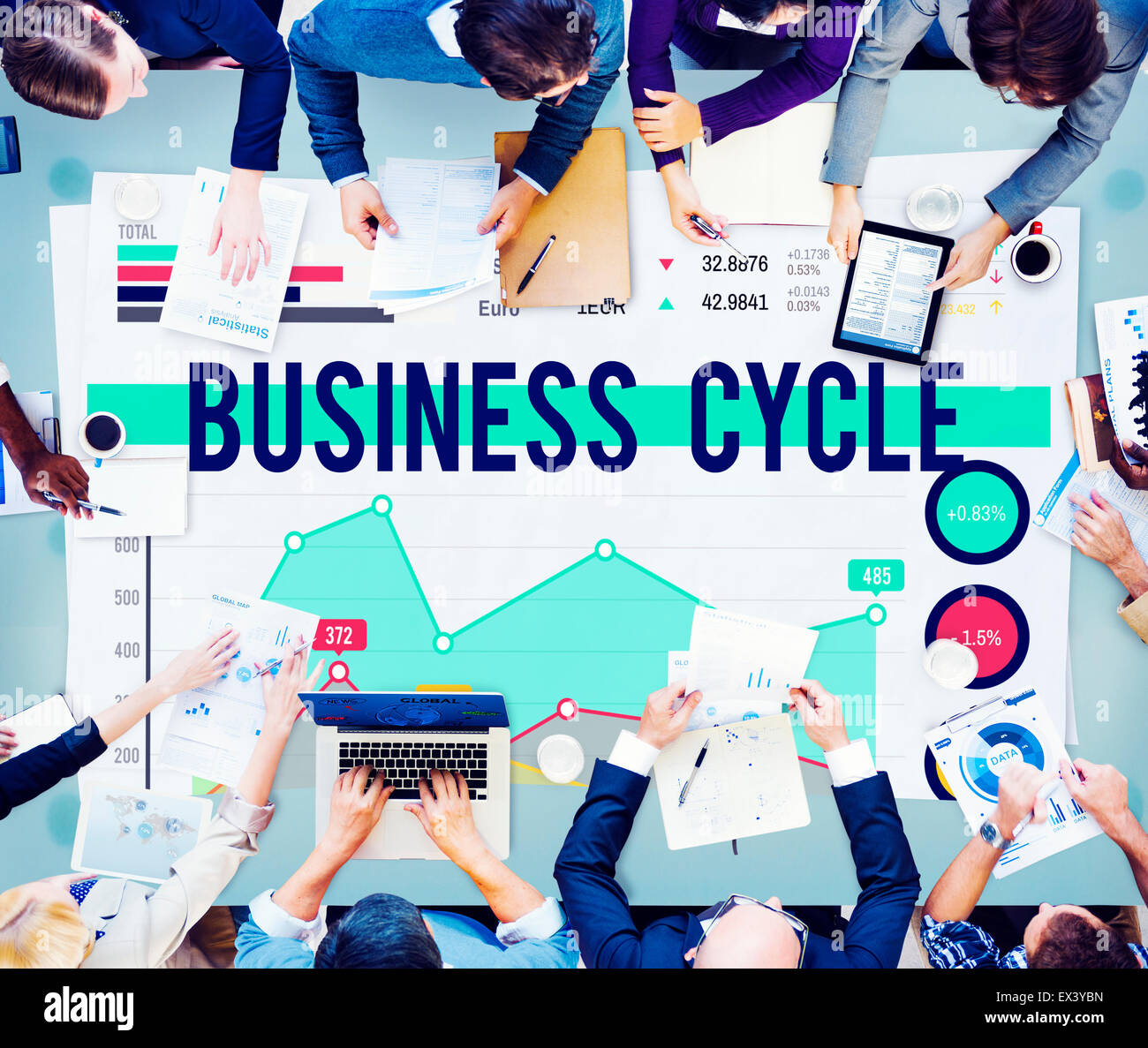 Business Cycle Progress Process Strategy Concept - Stock Image