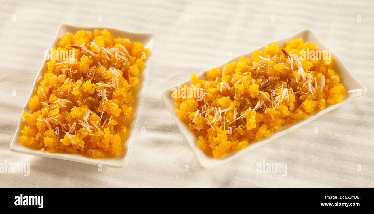 Suji halwa indian pakistani sweet cuisine - Stock Image