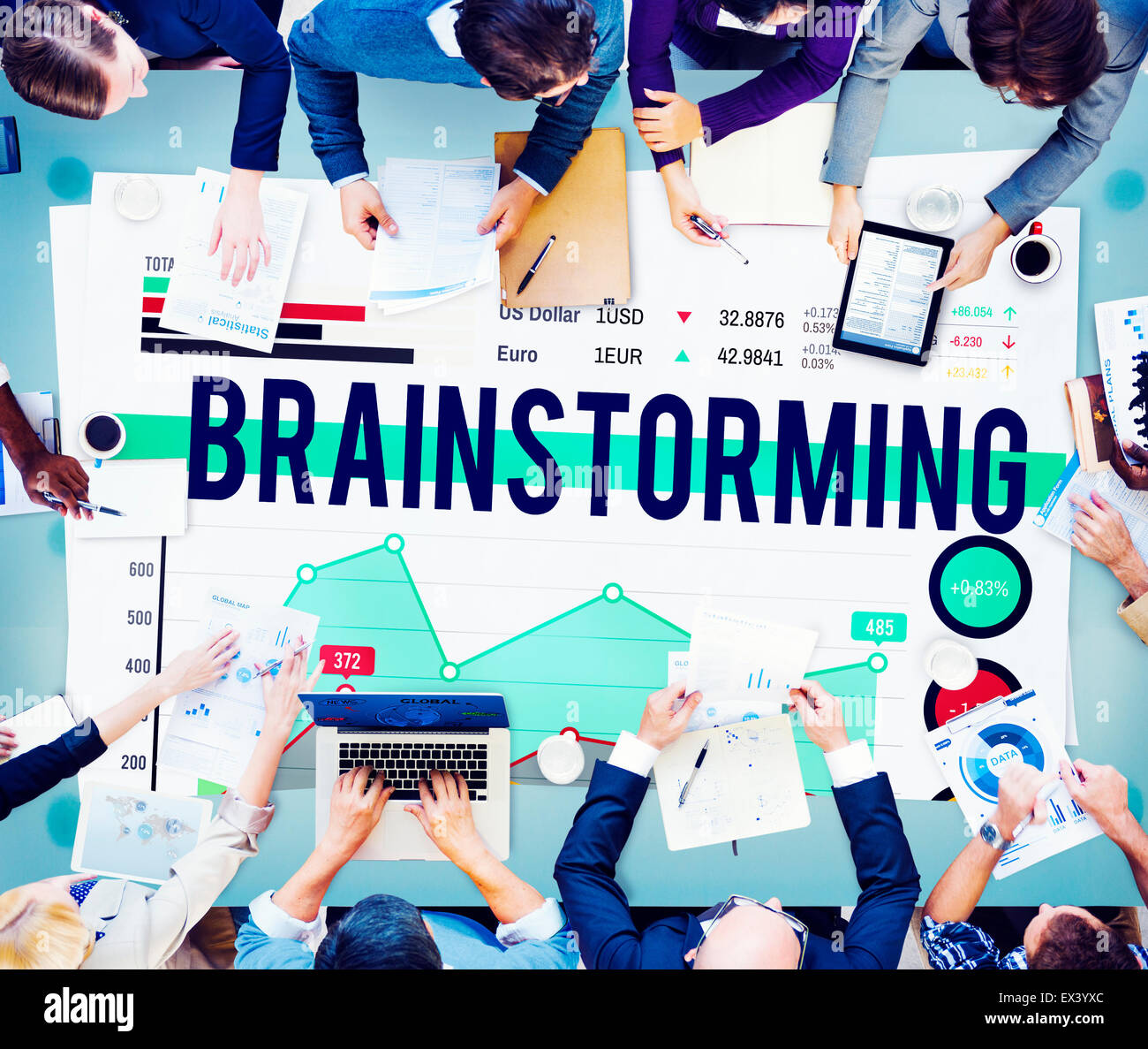 Brainstorming Meeting Planning Plan Business Concept - Stock Image