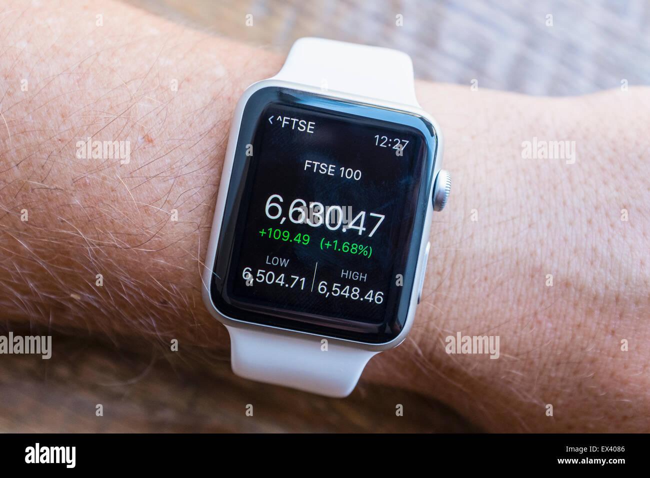 apple watch smartwatch stock market stock photos apple watch