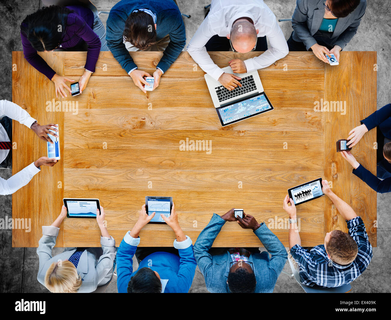 Diversity Business Team Planning Board Meeting Strategy Concept - Stock Image